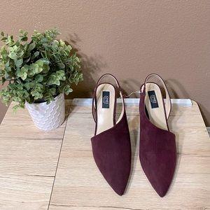 Jones New York Suede Chloe Maroon Heels Size 8.5
